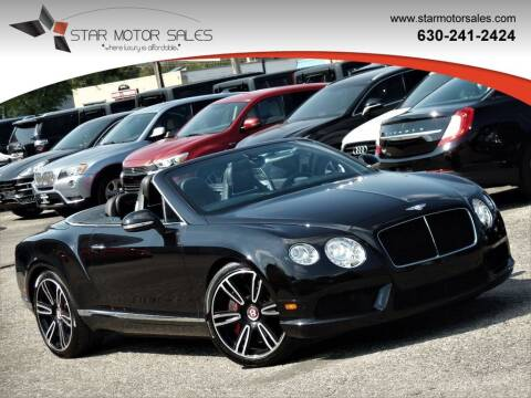 2013 Bentley Continental for sale at Star Motor Sales in Downers Grove IL