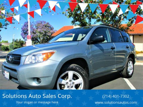 2008 Toyota RAV4 for sale at Solutions Auto Sales Corp. in Orange CA