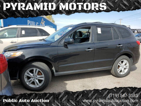 2010 Hyundai Santa Fe for sale at PYRAMID MOTORS - Pueblo Lot in Pueblo CO