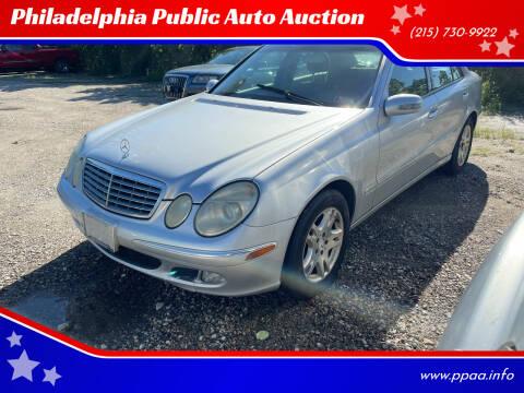 2003 Mercedes-Benz E-Class for sale at Philadelphia Public Auto Auction in Philadelphia PA