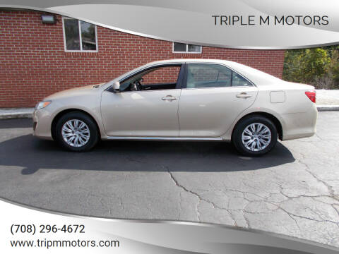 2012 Toyota Camry for sale at Triple M Motors in Saint John IN