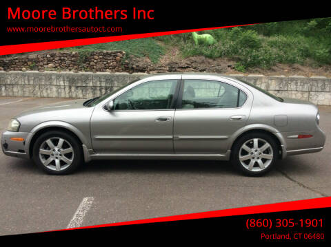 2003 Nissan Maxima for sale at Moore Brothers Inc in Portland CT