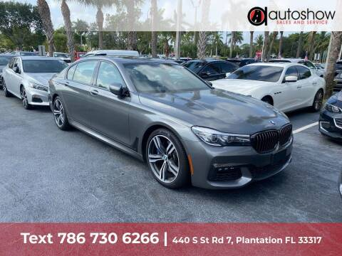 2019 BMW 7 Series for sale at AUTOSHOW SALES & SERVICE in Plantation FL