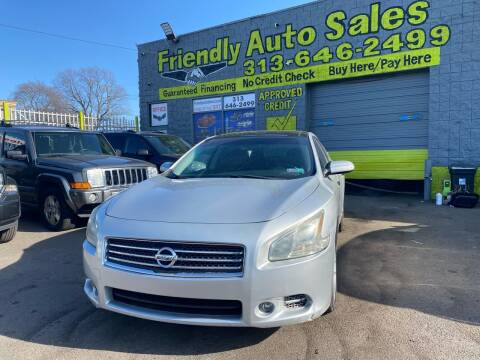 2011 Nissan Maxima for sale at Friendly Auto Sales in Detroit MI