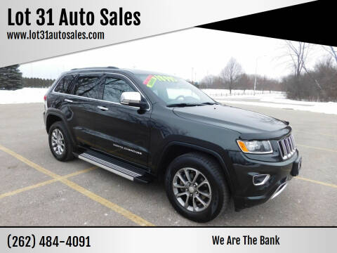 2014 Jeep Grand Cherokee for sale at Lot 31 Auto Sales in Kenosha WI
