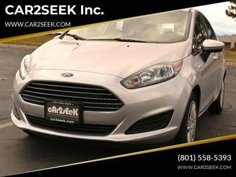 2016 Ford Fiesta for sale at CAR2SEEK Inc. in Salt Lake City UT
