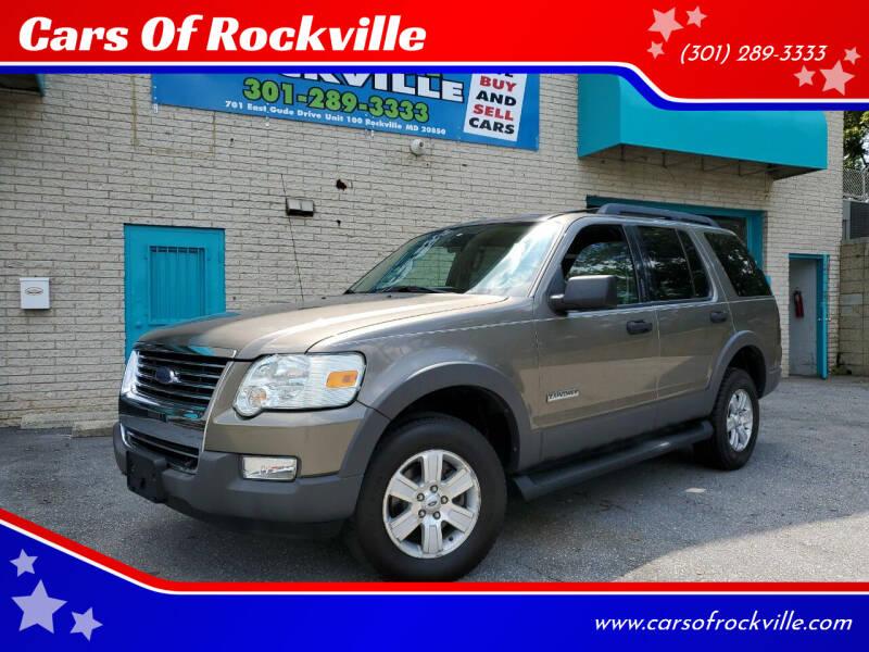2006 Ford Explorer for sale at Cars Of Rockville in Rockville MD