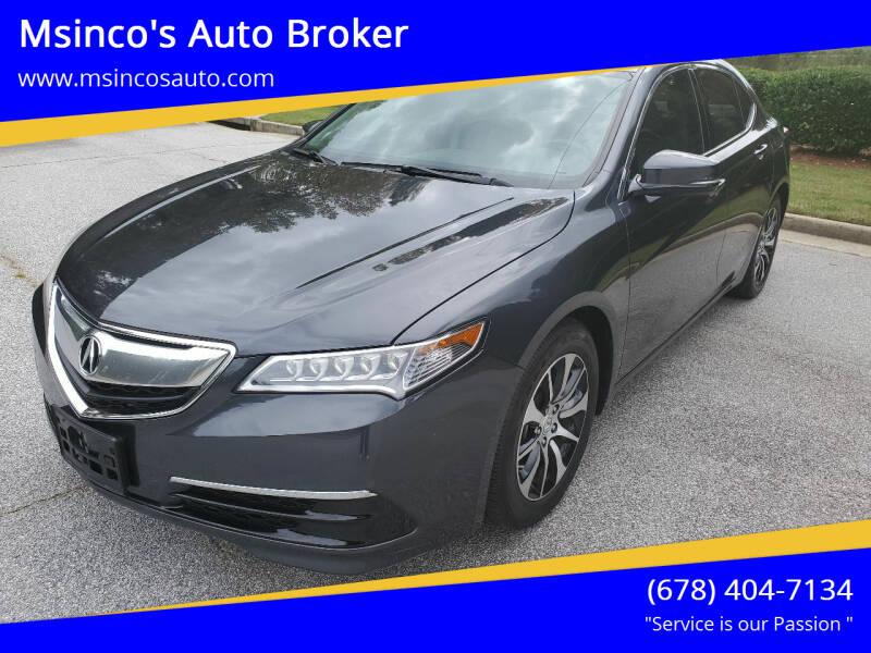 2015 Acura TLX for sale at Msinco's Auto Broker in Snellville GA
