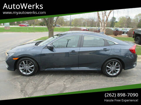 2019 Honda Civic for sale at AutoWerks in Sturtevant WI