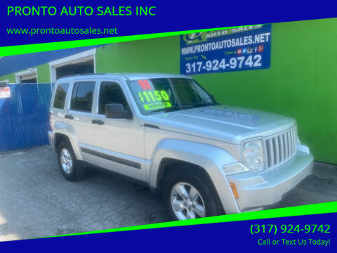 2011 Jeep Liberty for sale at PRONTO AUTO SALES INC in Indianapolis IN