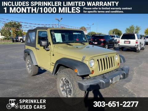 2013 Jeep Wrangler for sale at Sprinkler Used Cars in Longmont CO