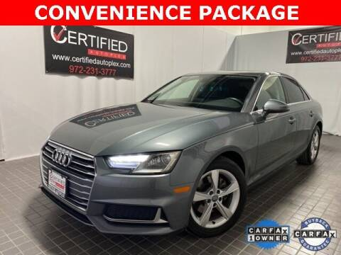 2019 Audi A4 for sale at CERTIFIED AUTOPLEX INC in Dallas TX