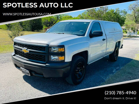 2015 Chevrolet Silverado 1500 for sale at SPOTLESS AUTO LLC in San Antonio TX