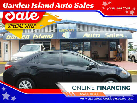 2017 Toyota Corolla for sale at Garden Island Auto Sales in Lihue HI