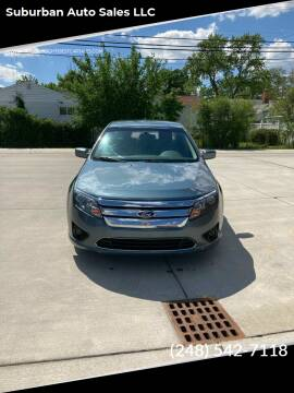 2012 Ford Fusion for sale at Suburban Auto Sales LLC in Madison Heights MI