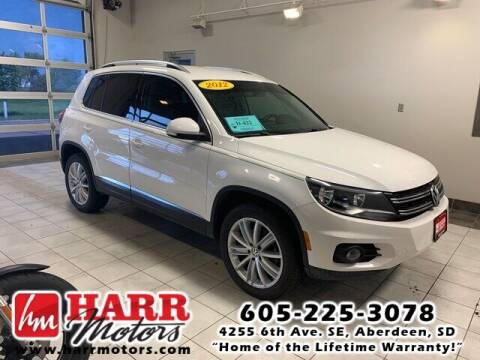 2012 Volkswagen Tiguan for sale at Harr Motors Bargain Center in Aberdeen SD