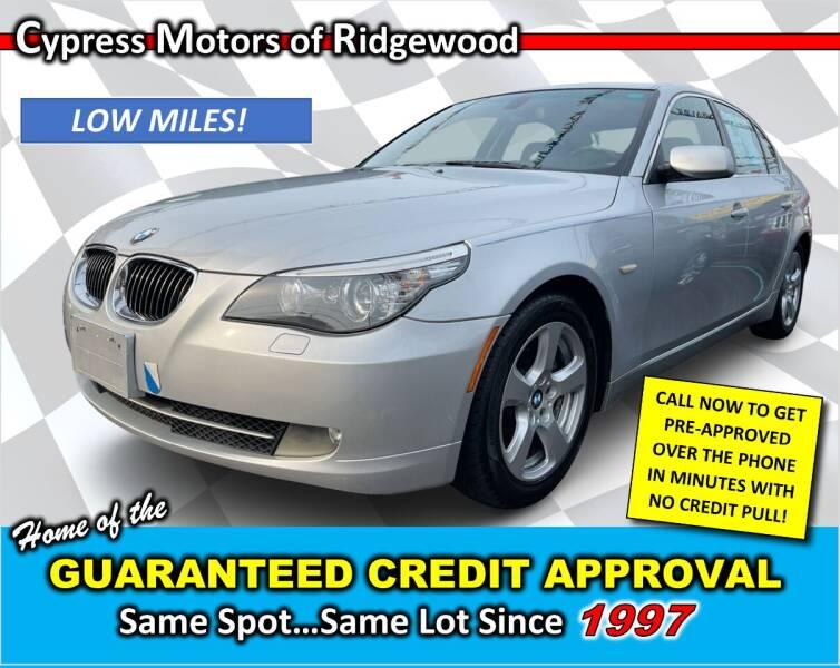 2008 BMW 5 Series for sale at Cypress Motors of Ridgewood in Ridgewood NY