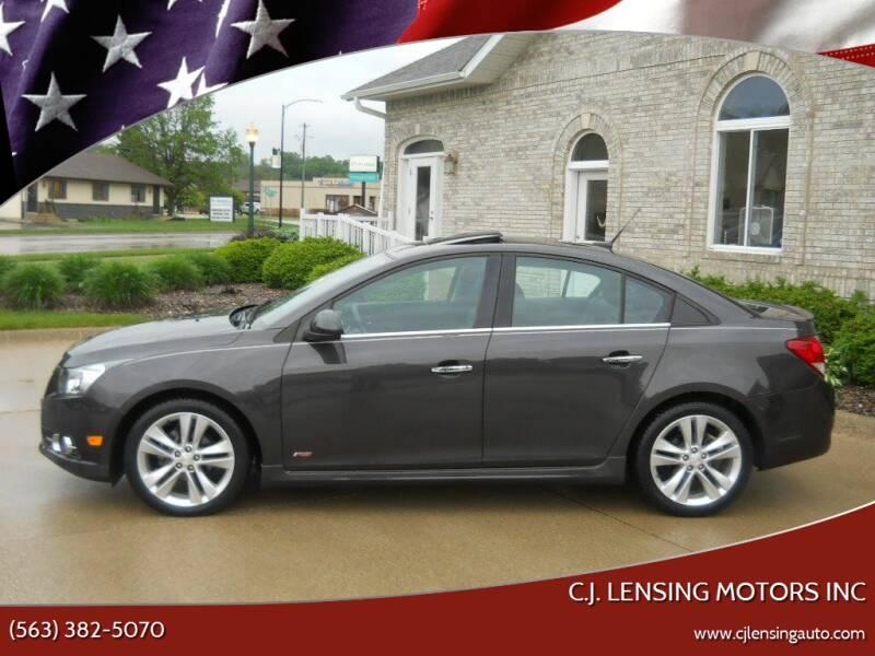 2014 Chevrolet Cruze for sale at C.J. Lensing Motors Inc in Decorah IA