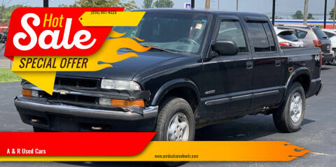 2002 Chevrolet S-10 for sale at A & R Used Cars in Clayton NJ