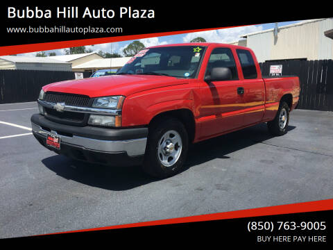 2003 Chevrolet Silverado 1500 for sale at Bubba Hill Auto Plaza in Panama City FL