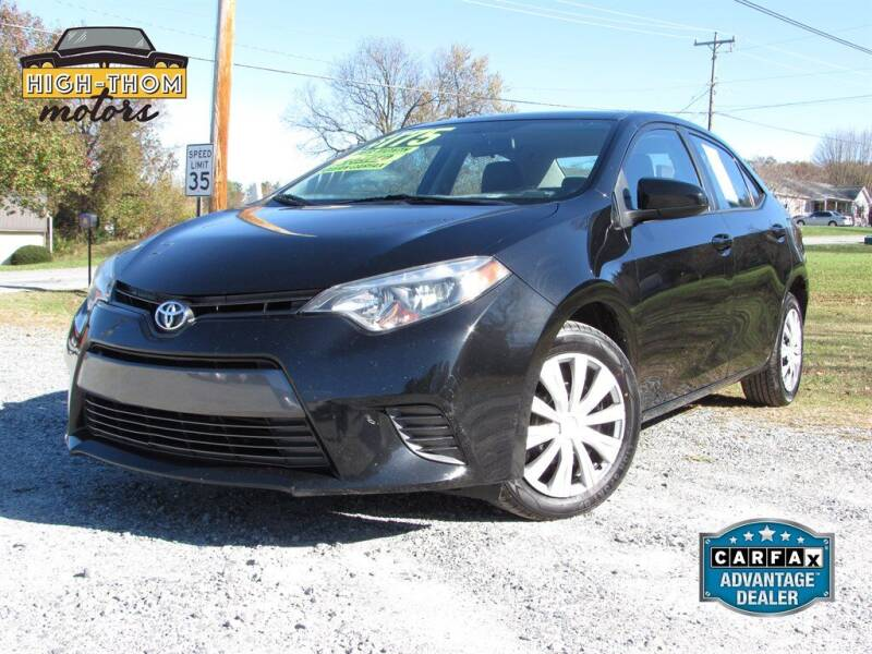 2016 Toyota Corolla for sale at High-Thom Motors in Thomasville NC