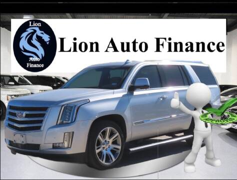 2018 Cadillac Escalade for sale at Lion Auto Finance in Houston TX