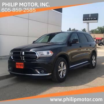 2015 Dodge Durango for sale at Philip Motor Inc in Philip SD