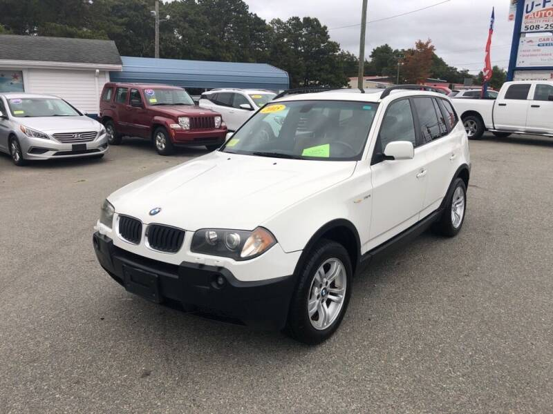 2005 BMW X3 for sale at U FIRST AUTO SALES LLC in East Wareham MA