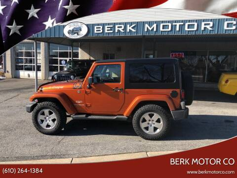 2011 Jeep Wrangler for sale at Berk Motor Co in Whitehall PA