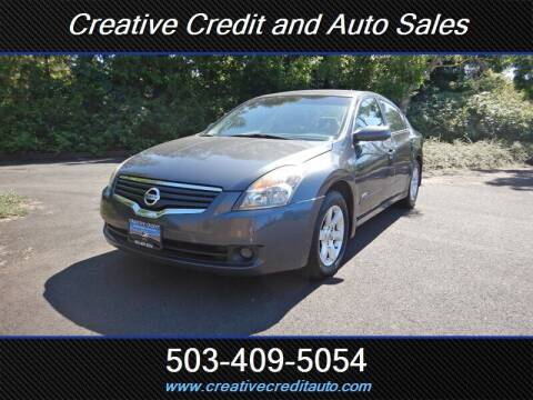 2009 Nissan Altima Hybrid for sale at Creative Credit & Auto Sales in Salem OR