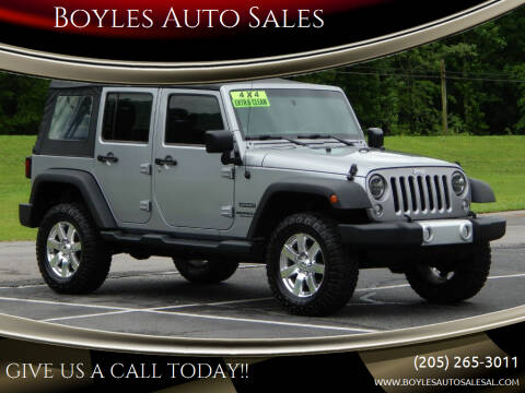 2014 Jeep Wrangler Unlimited for sale at Boyles Auto Sales in Jasper AL