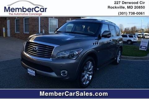 2014 Infiniti QX80 for sale at MemberCar in Rockville MD