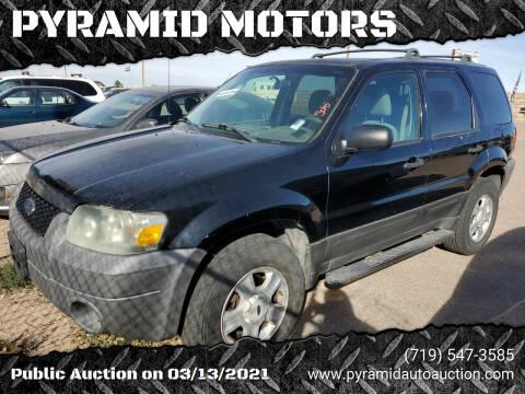 2005 Ford Escape for sale at PYRAMID MOTORS - Pueblo Lot in Pueblo CO