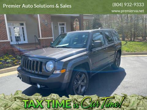 2016 Jeep Patriot for sale at Premier Auto Solutions & Sales in Quinton VA