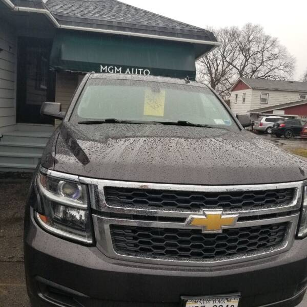 2015 Chevrolet Tahoe for sale at MGM Auto Sales in Cortland NY