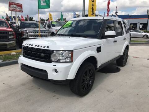 2012 Land Rover LR4 for sale at Navarro Auto Motors in Hialeah FL