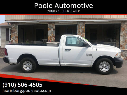 2015 RAM Ram Pickup 1500 for sale at Poole Automotive in Laurinburg NC
