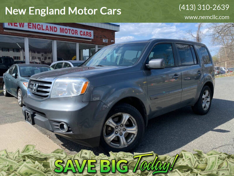 2012 Honda Pilot for sale at New England Motor Cars in Springfield MA