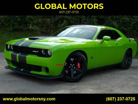 2017 Dodge Challenger for sale at GLOBAL MOTORS in Binghamton NY