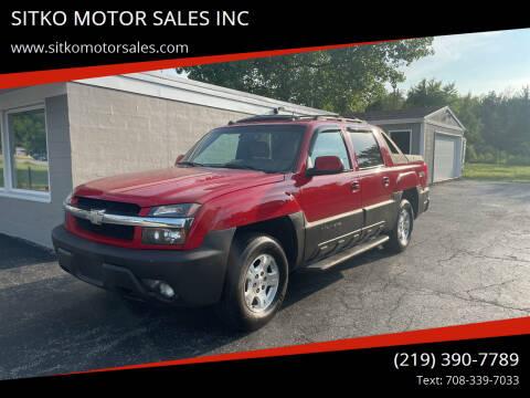 2004 Chevrolet Avalanche for sale at SITKO MOTOR SALES INC in Cedar Lake IN