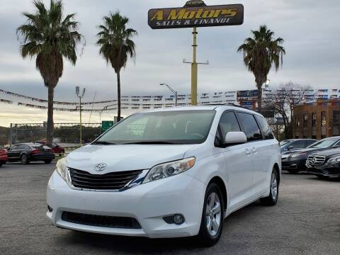 2012 Toyota Sienna for sale at A MOTORS SALES AND FINANCE in San Antonio TX