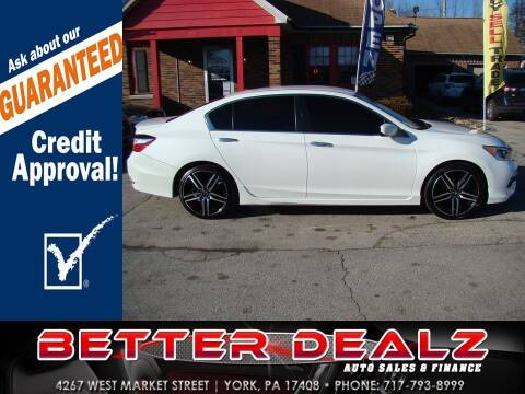 2016 Honda Accord for sale at Better Dealz Auto Sales & Finance in York PA