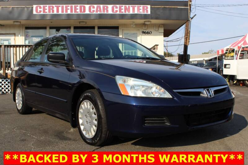 2006 Honda Accord for sale at CERTIFIED CAR CENTER in Fairfax VA