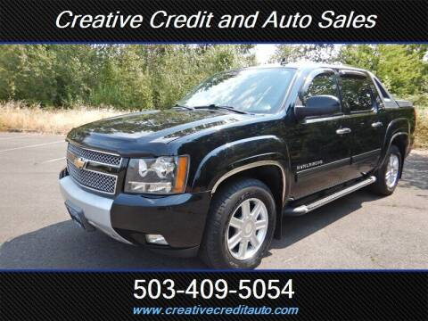 2010 Chevrolet Avalanche for sale at Creative Credit & Auto Sales in Salem OR