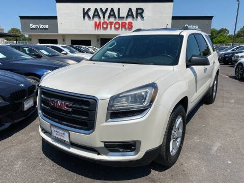 2014 GMC Acadia for sale at KAYALAR MOTORS in Houston TX