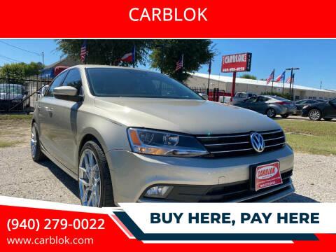 2015 Volkswagen Jetta for sale at CARBLOK in Lewisville TX