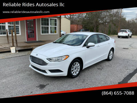 2018 Ford Fusion for sale at Reliable Rides Autosales llc in Greer SC