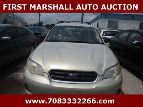 2007 Subaru Outback for sale at First Marshall Auto Auction in Harvey IL