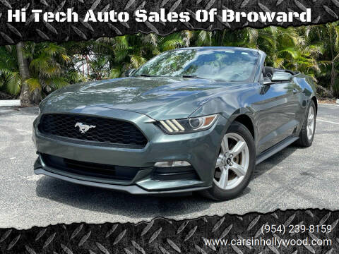 2016 Ford Mustang for sale at Hi Tech Auto Sales Of Broward in Hollywood FL