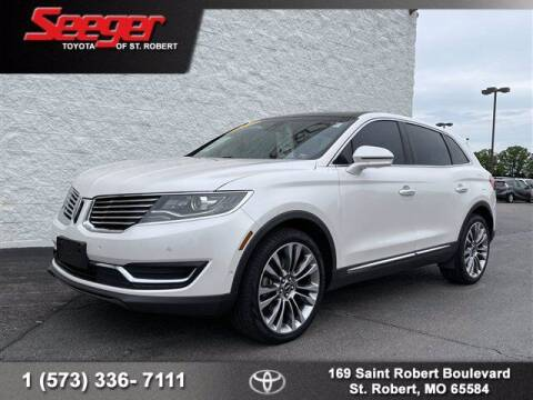 2016 Lincoln MKX for sale at SEEGER TOYOTA OF ST ROBERT in St Robert MO